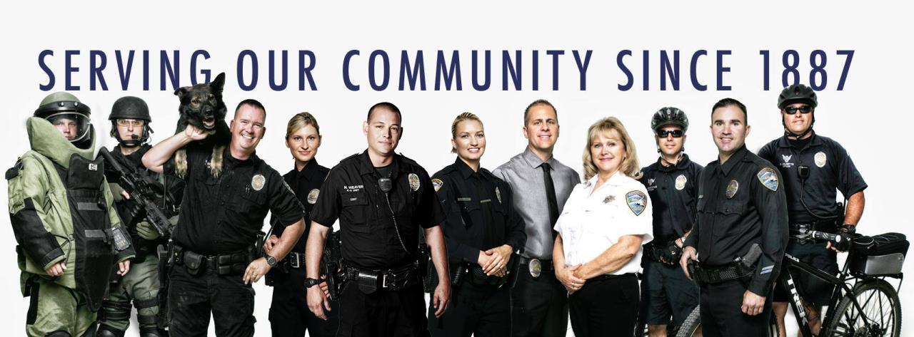 Photo of Redding Police Department staff 2017