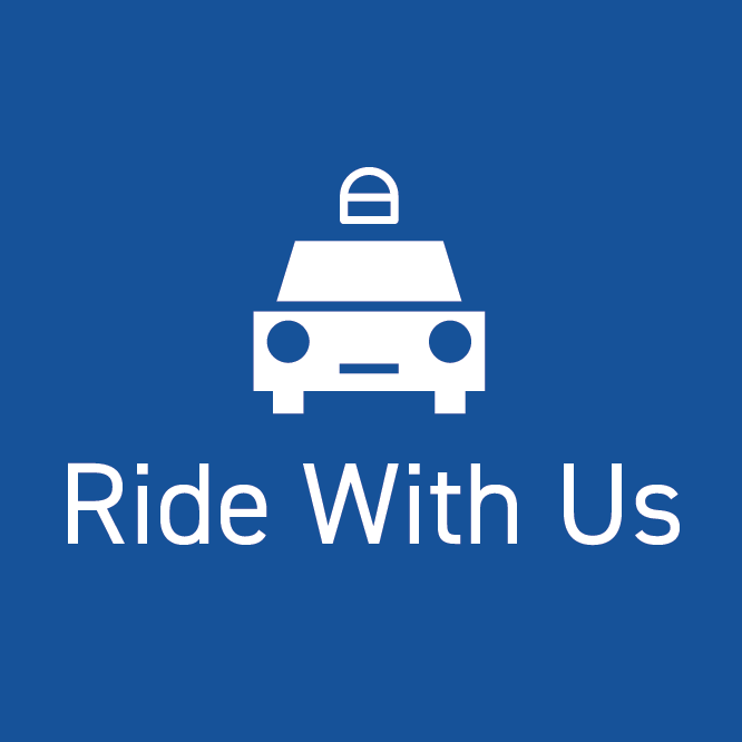 Ride with us button